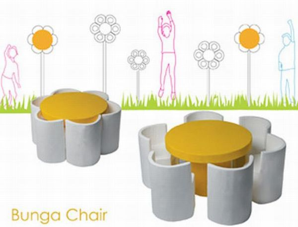 Chairs inspired by flowers