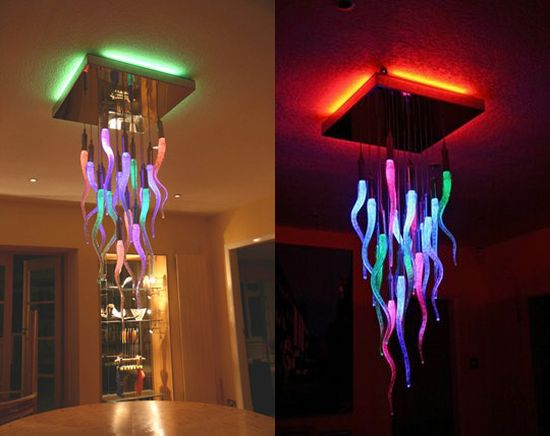 Home decor: Color changing chandeliers!