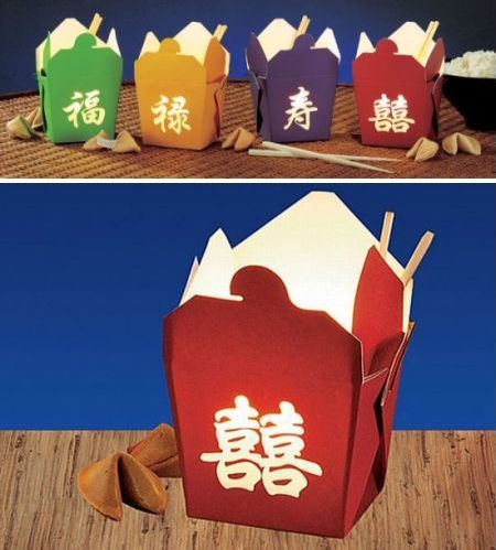chinese take out container lamps