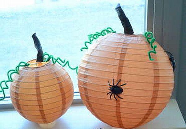 Chinese lanterns into Halloween pumpkins