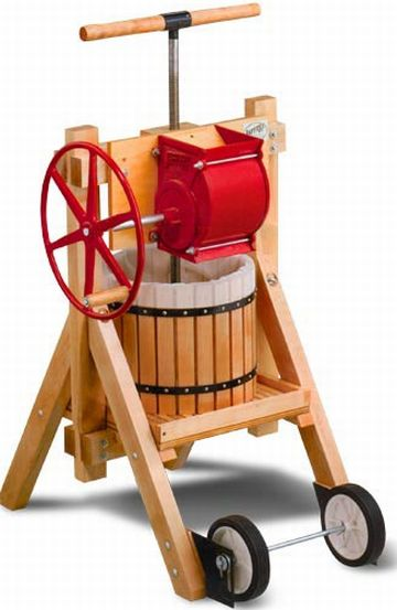 cider and wine press with apple grinder