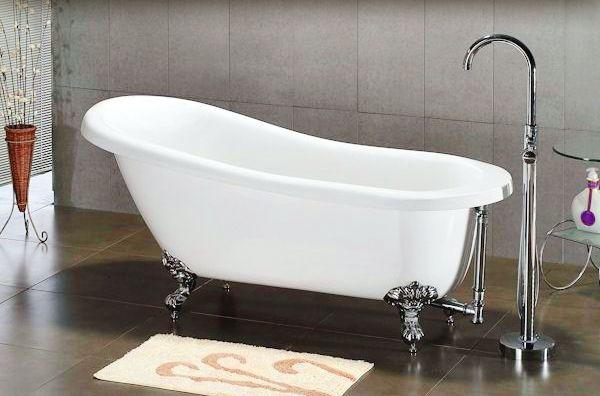 10 most stylish claw foot bath tub hometone for Claw foot soaker tub