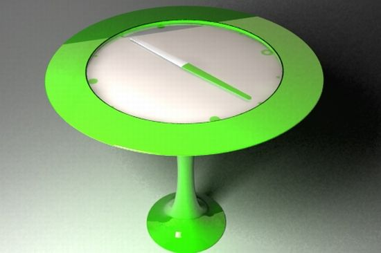 clock compass table