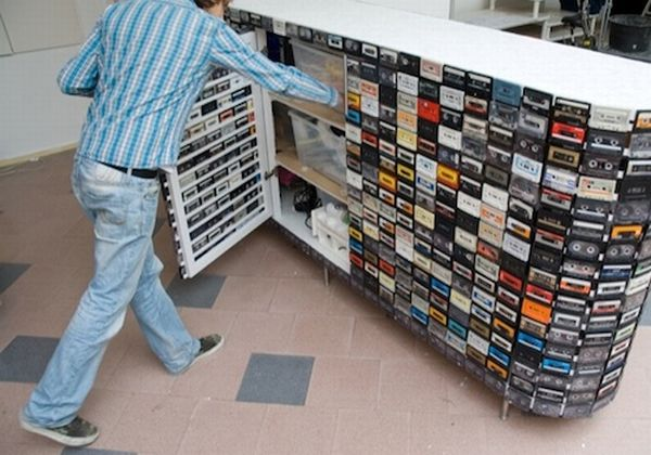 Closet Made From Cassette Tapes
