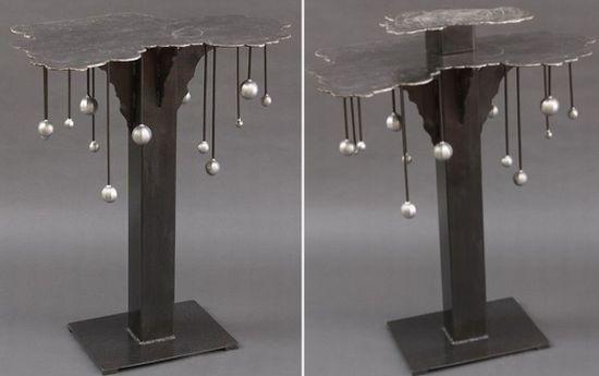 cloud burst steel table0
