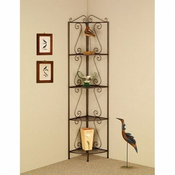 Revel in the beauty and grace of this lovely corner shelf unit. It is