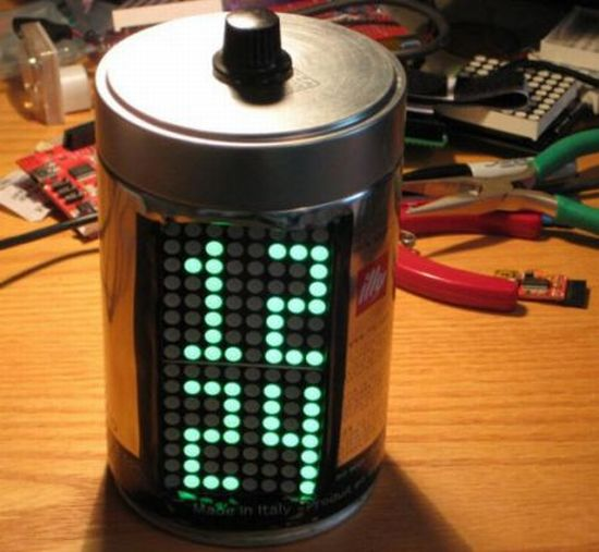 coffee can clock