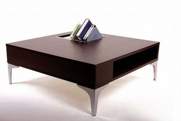 Coffee table for storing books