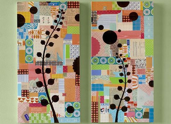Tips for making beautiful collage wall art hometone for Collage wall art ideas