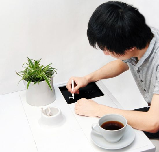communicative coffee table
