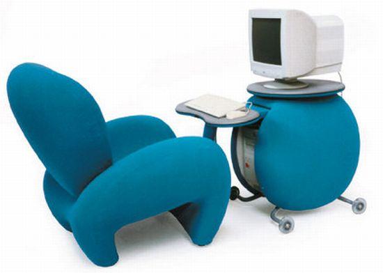 Computer Tilt Chair and Case