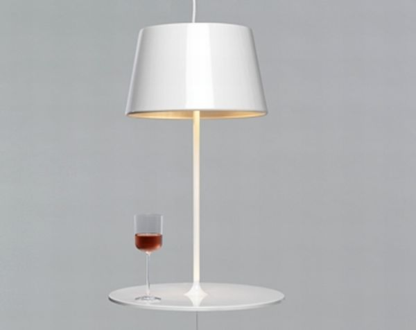 Contemporary Scandinavian Interior Table Light Design Illusion