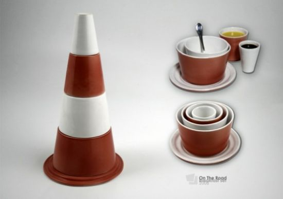 cool and functional breakfast set on the road by p