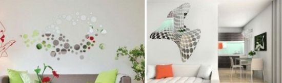 cool wall stickers with mirror effect by acte deco