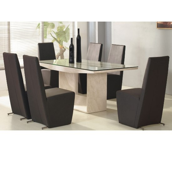 Contemporary dining chairs most trendy hometone for Trendy dining sets