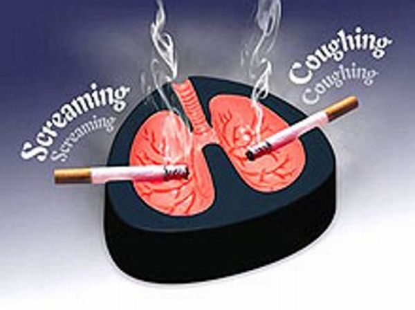 Coughing and screaming ashtray