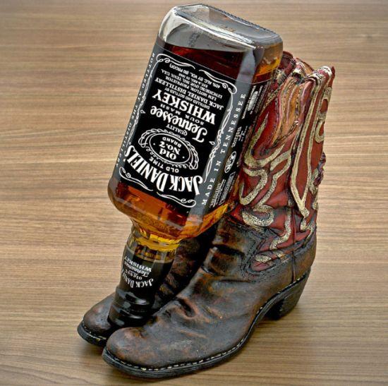 Cowboy Boot Wine Bottle Holder Cowboy Boot Liquor Bottle