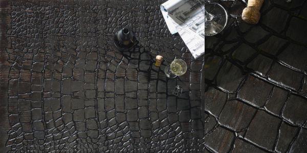 Crocodile Skin leather-like floor design