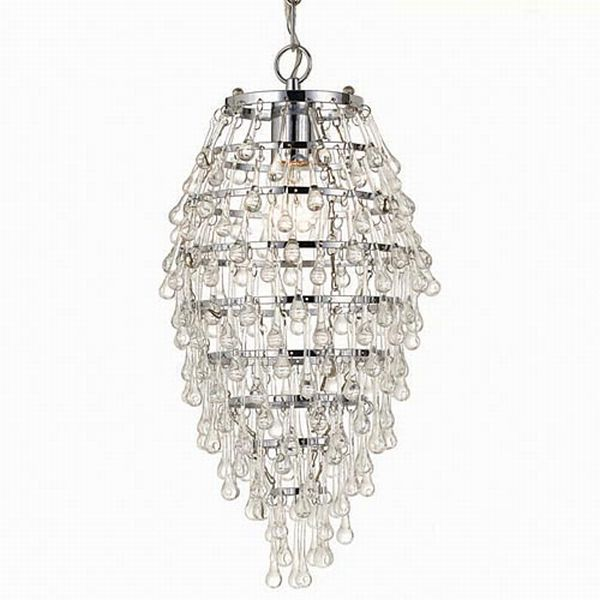 Crystal Teardrops For Chandelier: Mini Chandelier Crystal Crystorama Gramercy 4 Light Spectra,Lighting