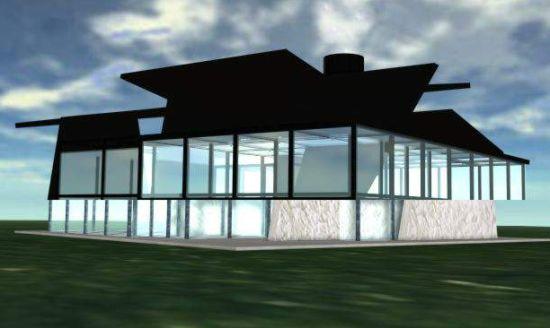 daniiel c robbins glass house