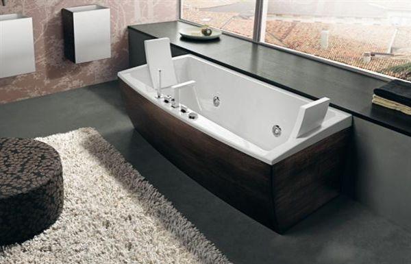 dark wooden stylish contemporary bathtubs
