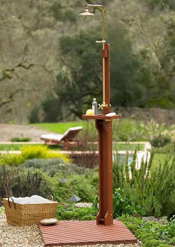 Delahey Wooden Outdoor Shower