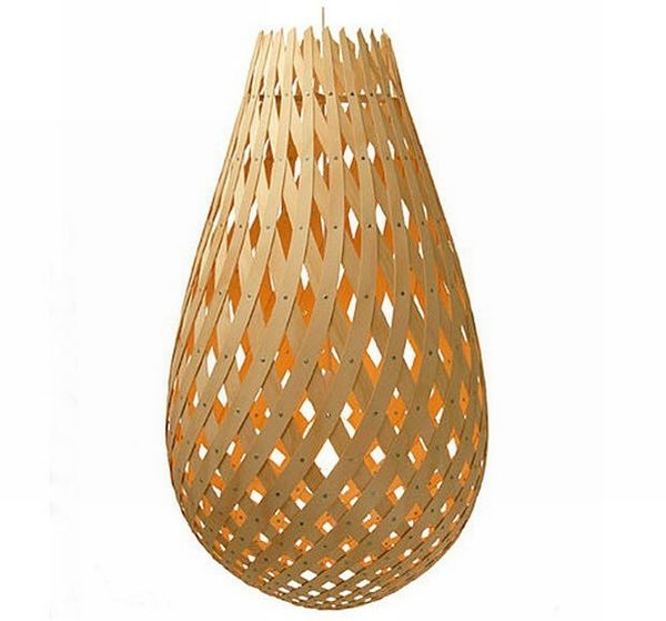 Design pendant lamp in bamboo