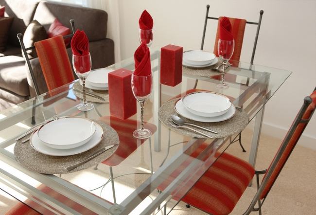 Dining off Glass Tables