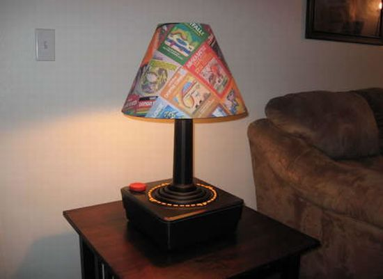 diy atari joystick lamp