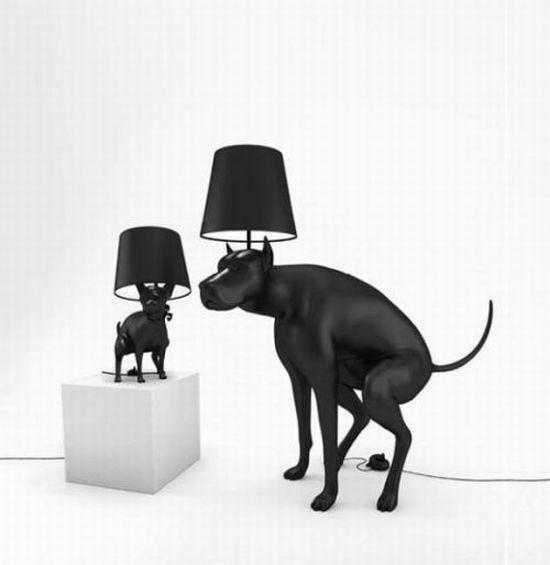 Dog Pooping Lamp