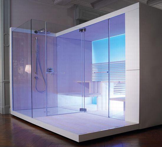 Duravit inipi sauna futuristic designer sauna with for Home automation shower