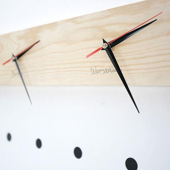 dzn log clock by piotr stolarski squ