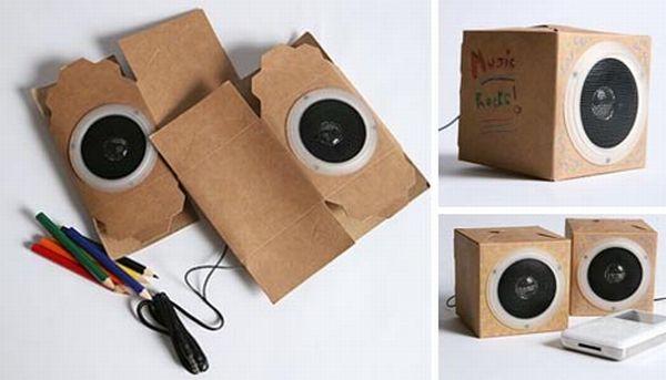 Eco-Friendly Cardboard Speakers