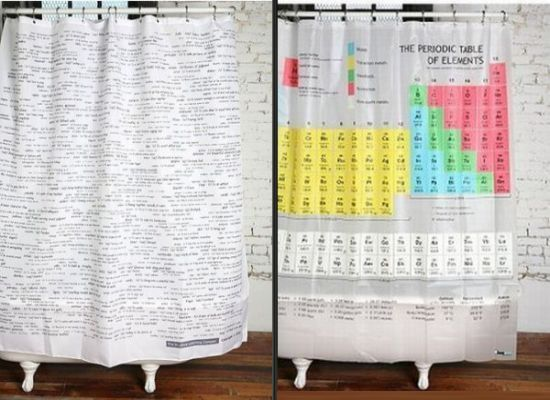 Educational Curtains Let You Study While You Take A Shower