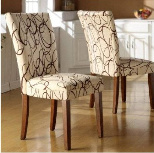 Fabric dining chairs 7 most elegant hometone home for Printed upholstered dining chairs