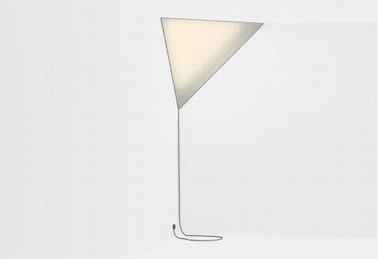 Established Sons Corner Light By Peter Bristol : Make a lighting statement with triangular lamp hometone