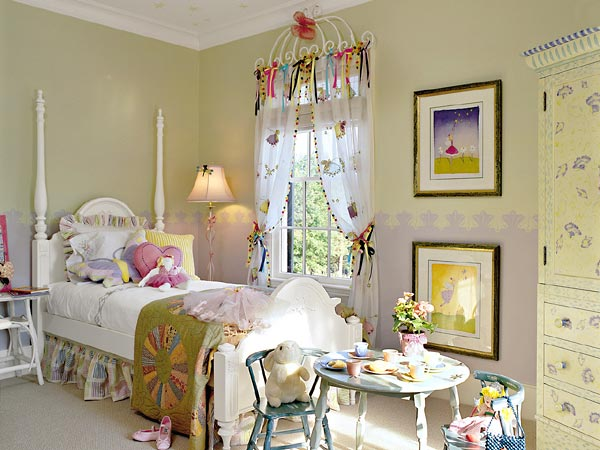Creative girls bedroom decorating ideas hometone - Images of cute kids bedrooms ...