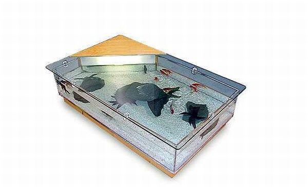 Most elegant coffee tables with built in aquarium hometone for Aquarium coffee table fish tank