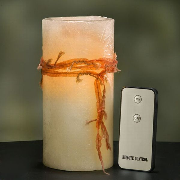 flickering led remote controlled candle