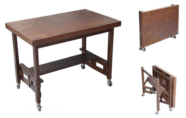 Smart expandable console tables for urban dwellings hometone - Expandable buffet dining table ...