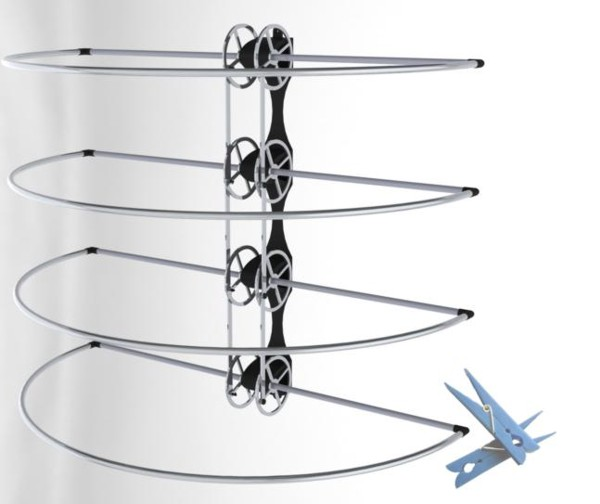 four flip drying rack