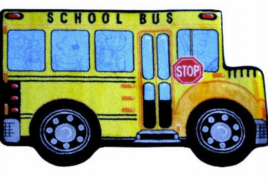 fun rugs fun shapes high pile school bus rug