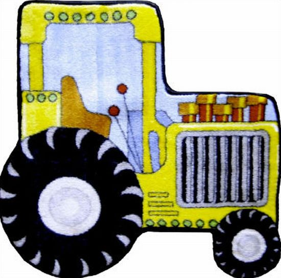 fun rugs fun shapes high pile tractor rug