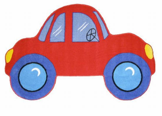fun rugs fun shapes medium pile red car rug