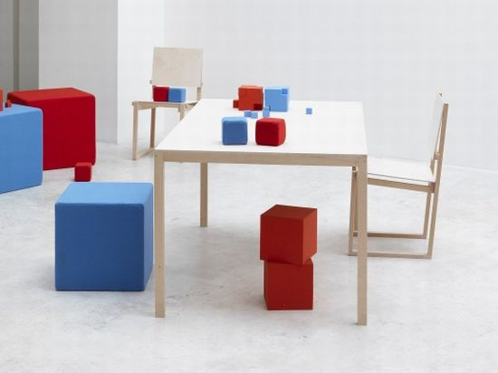 8 Bit Style Dining Blocks Promise To Bestow Liveliness To