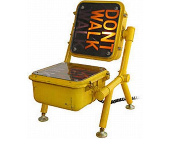 Furniture made from recycled signs