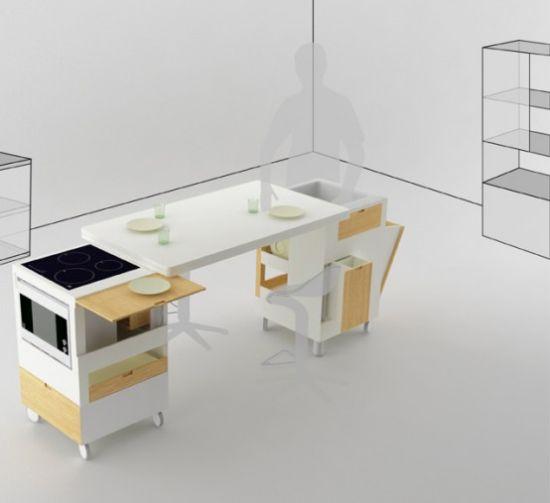 futuristic kitchen concept for small room rubica b