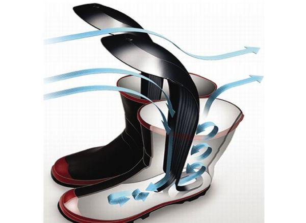 Futuristic footwear dryers