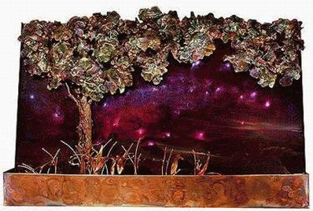 galaxy tree wall fountain