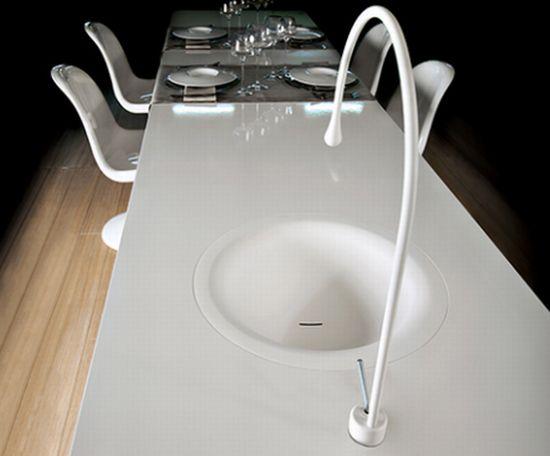 gessi goccia dining table concept
